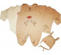 """Набор для новорожденного """"Little mouse"""", кремовый"""