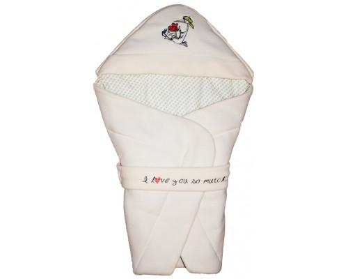 "Конверт-одеяло на выписку ""I love you so much"""