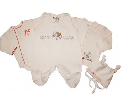 """Набор для новорожденного """"Happy bear"""", интерлок"""