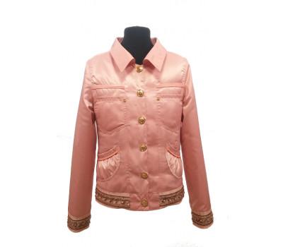 Ветровка-пиджак ANGELO подростковая розовый р.140-158