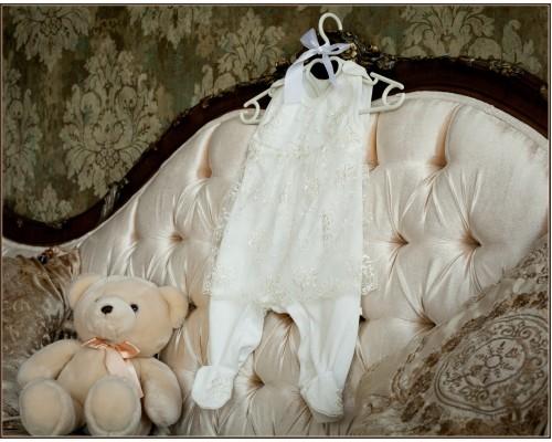 Полукомбинезон с юбочкой нарядный для девочки BabyPollo