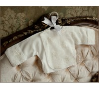 Распашонка с гипюром на выписку BabyPollo 2-041