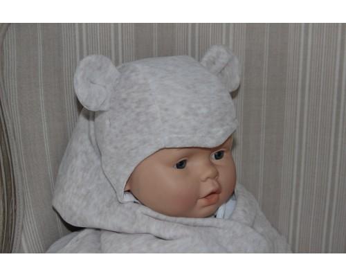 Шапочка велюровая с ушками BabyPollo 5-278