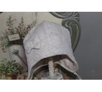 Шапочка велюровая с бантиком BabyPollo 5-279