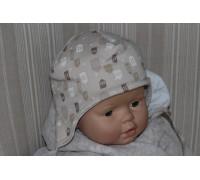 Шапочка интерлок BabyPollo на синтепоне 5-282