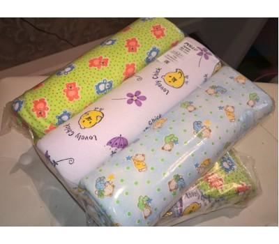 Пеленки разноцветные (футер), размер 120*90