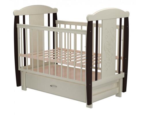 Детская кроватка Valle Bunny 05 маятник продольный с ящиком