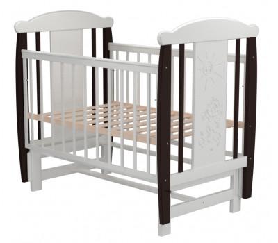 Детская кроватка Valle Cat 04 маятник поперечный б/ящ.