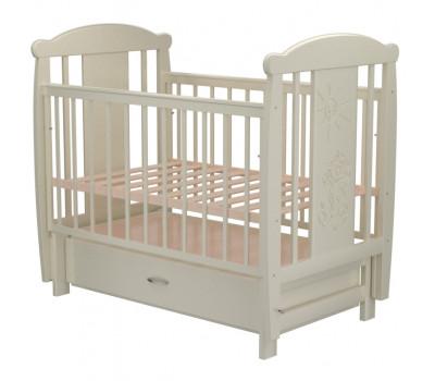 Детская кроватка Valle Cat 04 маятник поперечный с ящиком