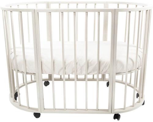 Детская кроватка-трансформер овальная Valle Domenica 9 в 1