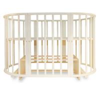 Детская кроватка-трансформер овальная Valle Mimi 6 в 1 м. поп.