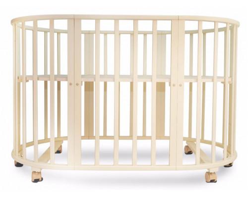 Детская кроватка-трансформер овальная Valle Patrisia 5 в 1