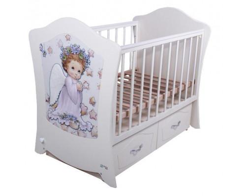 Детская кроватка Vikalex Magic Simphony (м. поп.) 120х60м /с ящ.