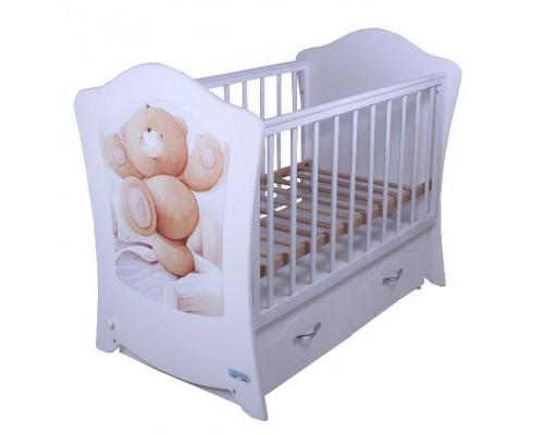 Детская кроватка Vikalex Sunny dance (м. поп.) 120х60 м/с ящ.