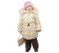 Зимний комплект Егорка, модель Розочка, кремовый