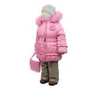 Зимний комплект Егорка, модель Розочка, розовый