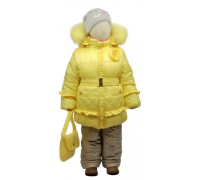 Зимний комплект Егорка, модель Розочка, лимон