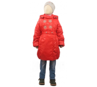 Пальто весна-осень Егорка Принцесса, красный
