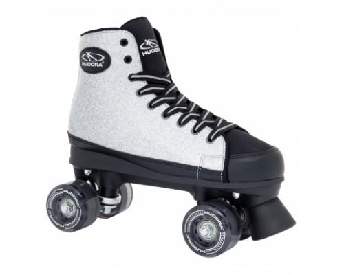 Ролики-квады Hudora Roller Skates Silver Glamour