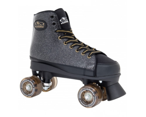 Ролики-квады Hudora Roller Skates Black Glamour