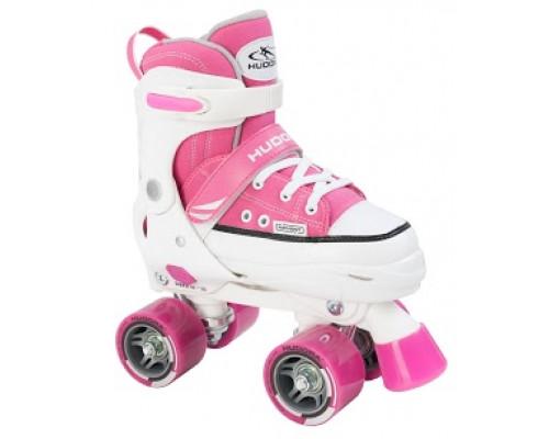 Роликовые коньки Hudora Rollschuh Roller Skate розовый р. 28-39
