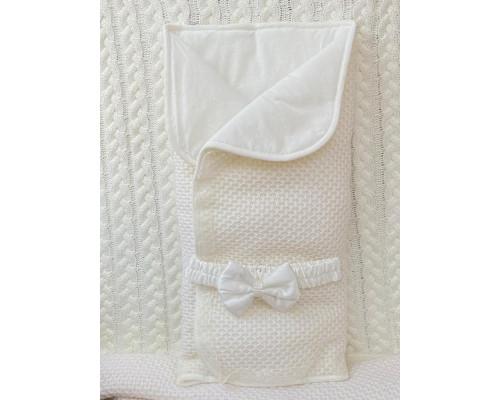 Конверт-одеяло вязанный на кнопочках JollyBaby