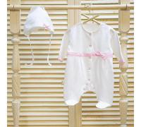 Комплект на выписку с розовыми ленточками JollyBaby