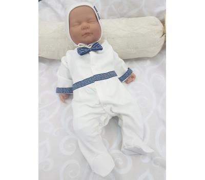 Комбинезон для мальчика с декоративными лентами JollyBaby (синий)