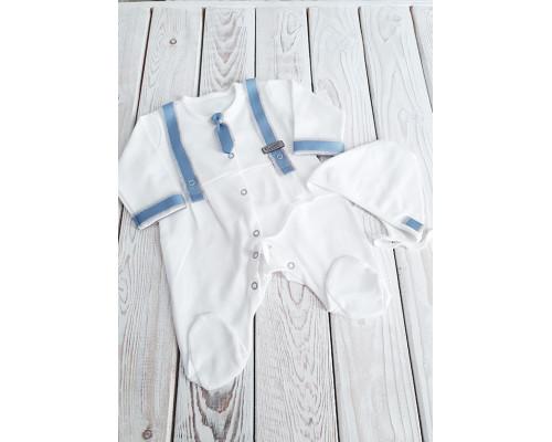 Комбинезон на выписку с галстуком Jolly baby (голубой) р.56