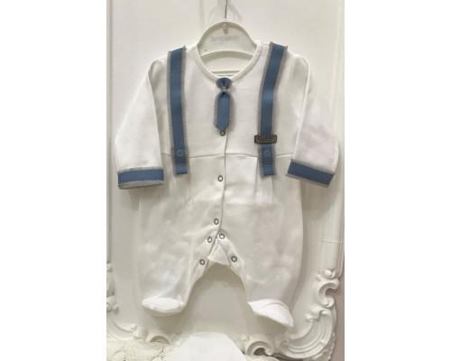 Комбинезон на выписку с галстуком Jolly baby (голубой) р.50-68