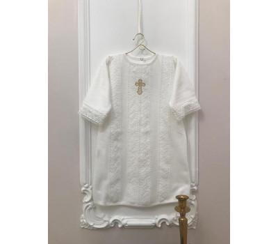 """Крестильная рубашка JollyBaby """"Ажур"""""""