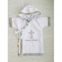 Рубашка крестильная JollyBaby с капюшоном