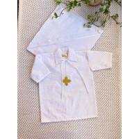 Рубашка крестильная JollyBaby с уголком