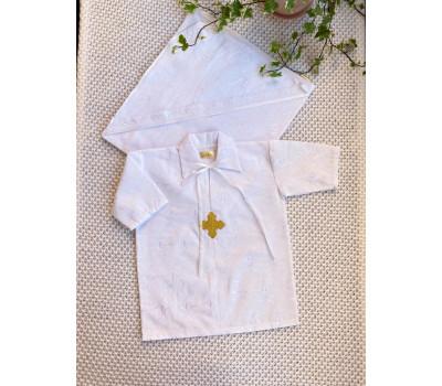 Рубашка крестильная JollyBaby с уголком р.62