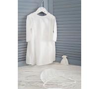 Крестильный набор JollyBaby (рубашка, чепчик, мешочек) р. 62,68