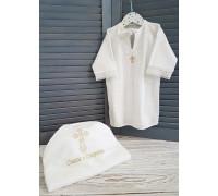 """Крестильный набор JollyBaby """"Ажур"""" (рубашка, полотенце)"""