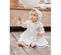 """Крестильное платье для девочки с капюшоном JollyBaby """"Алена"""""""