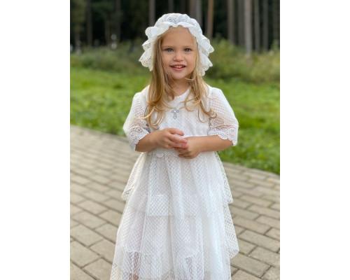 """Крестильное платье для девочки JollyBaby """"Кристина"""" р.62-98"""