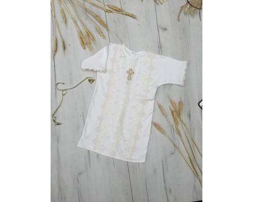 "Крестильная рубашка JollyBaby ""Кружево"" р.62-80"