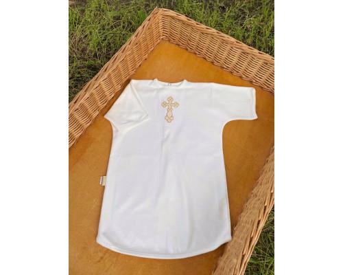 """Рубашка крестильная JollyBaby """"Вышивка"""" кнопки сзади р.62-80"""