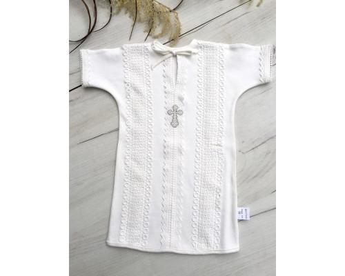 Крестильная рубашка на завязках JollyBaby р.62-80
