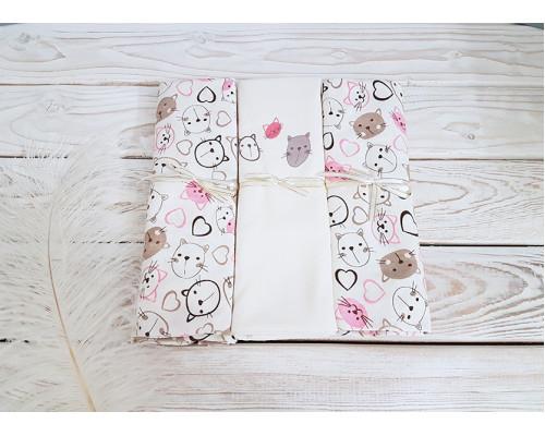 Комплект пеленок Jolly baby 3 шт Розовый