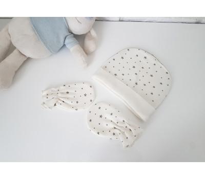 Шапочка для новорожденного с царапками (0-3 мес)