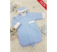 Теплый спальный мешок JollyBaby с кармашком