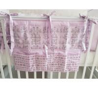 Органайзер на кроватку JollyBaby (розовый)