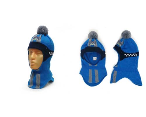 "Шапка-шлем GRANS ""Формула"" сине-голубой, р.50-52"