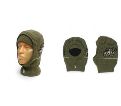 "Шапка-шлем GRUMAR ""Тачки"" оливка, р.50-52"