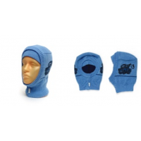 """Шапка-шлем GRUMAR """"Тачки"""" голубой, р.50-52"""