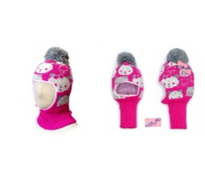 """Шапка-шлем KOLAD """"Кити"""" малина, р.46-48"""