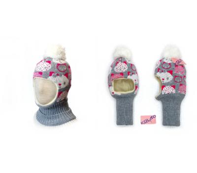 "Шапка-шлем KOLAD ""Кити"" серый, р.46-48"